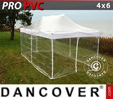 Party Marquee PRO 4x6 m Clear, incl. 8 sidewalls
