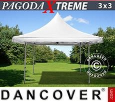 Party Marquee Pagoda Xtreme 3x3 m / (4x4 m) White