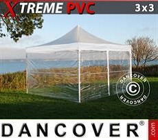 Party Marquee Xtreme 3x3 m Clear, incl. 4 sidewalls