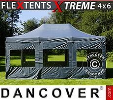 Party Marquee Xtreme 4x6 m Grey, incl. 8 sidewalls