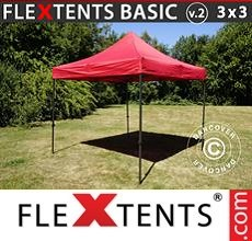 Pop up canopy Basic v.2, 3x3 m Red