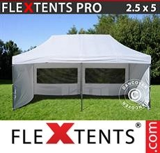 Pop up canopy PRO 2.5x5m White, incl. 6 sidewalls