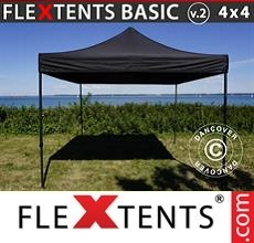 Pop up canopy Basic v.2, 4x4m Black