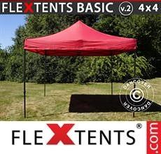 Pop up canopy Basic v.2, 4x4m Red