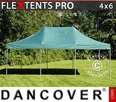 Pop Up Marquee PRO 4x6 m Green, incl. 8 sidewalls