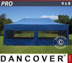 Pop Up Marquee PRO 4x8 m Blue, incl. 6 sidewalls
