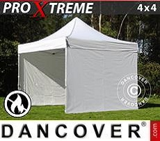 Pop Up Marquee Xtreme 4x4 m White, Flame retardant, incl. 4 sidewalls