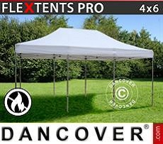 Pop Up Marquee PRO 4x6 m White, Flame retardant