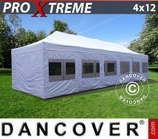 Pop Up Marquee Xtreme 4x12 m White, incl. sidewalls