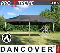 Pop Up Marquee Xtreme 3x6 m Black, Flame retardant