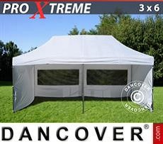 Pop Up Marquee Xtreme 3x6 m White, incl. 6 sidewalls