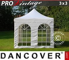 Pop Up Marquee PRO Vintage Style 3x3 m White, incl. 4 sidewalls