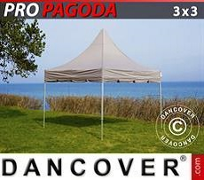 Pop Up Marquee PRO Peak Pagoda 3x3 m Latte