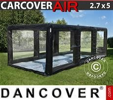 Portable Garage 2,7x5m, PVC, Black/Clear w/air blower