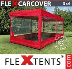 Racing tent Carcover, 3x6 m, Red