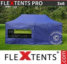 Racing tent PRO 3x6 m Dark blue, incl. 6 sidewalls