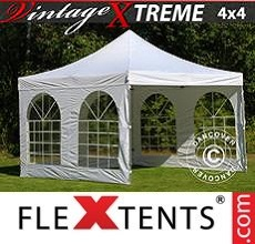 Racing tent Xtreme Vintage Style 4x4 m White, incl. 4 sidewalls