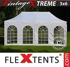Racing tent Xtreme Vintage Style 3x6 m White, incl. 6 sidewalls