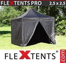 Racing tent PRO 2.5x2.5 m Black, incl. 4 sidewalls