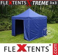 Racing tent Xtreme 3x3 m Dark blue, incl. 4 sidewalls