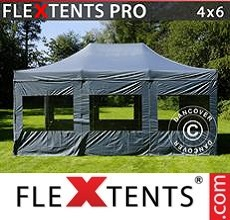 Racing tent PRO 4x6 m Grey, incl. 8 sidewalls