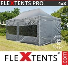 Racing tent PRO 4x8 m Grey, incl. 6 sidewalls