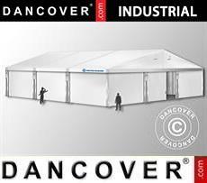 Industrial Storage Hall 12x12x5,42 m w/sliding gate, PVC, White