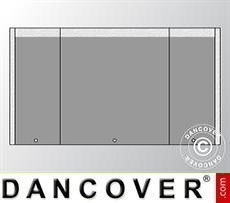 Endwall UNICO 4 m with narrow door, Dark Grey