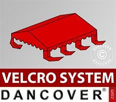 Roof cover for Marquee UNICO, PVC/Polyester, 3x6m, Red
