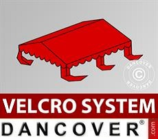 Roof cover for Marquee UNICO, PVC/Polyester, 4x4m, Red