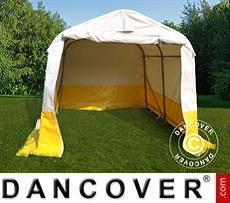 Work tent PRO 2.4x2.4x2 m, PVC, White/Yellow, Flame retardant