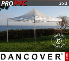 Pop up gazebo FleXtents PRO 3x3 m Clear, incl. 4 sidewalls