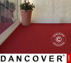 Tent Carpet 2.5x12 m chili red