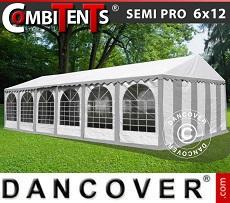 Marquee, SEMI PRO Plus CombiTents™ 6x12m 4-in-1, Grey/White
