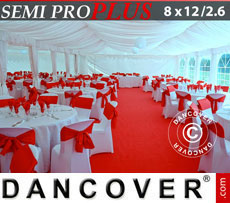 Marquee lining and leg curtain pack, white, for 8x12 m(2.6) marquee Semi Pro Plus