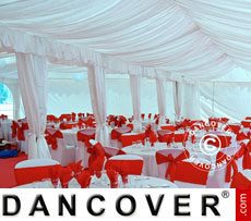 Marquee linings and leg curtain pack, white, for 5x12 m marquee