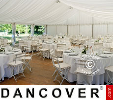Marquee linings and leg curtain pack, white, for 6x8 m marquee