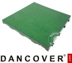 Plastic flooring Basic, Piastrella, Green, 1.44 m²