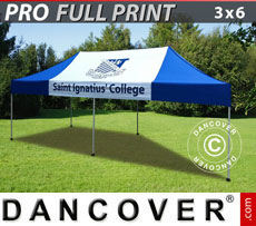 Racing tents - Pop up gazebo FleXtents PRO with full digital print, 3x6 m