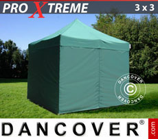 Pop up gazebo FleXtents Xtreme 3x3 m Green, incl. 4 sidewalls