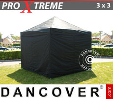 Pop up gazebo FleXtents Xtreme 3x3 m Black, incl. 4 sidewalls