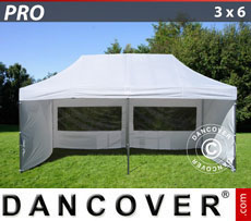Pop up gazebo FleXtents PRO 3x6 m White, incl. 6 sidewalls