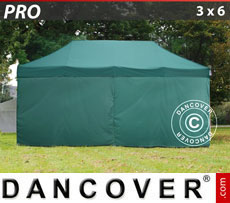 Pop up gazebo FleXtents PRO 3x6 m Green, incl. 6 sidewalls