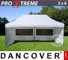 Pop up gazebo FleXtents Xtreme 3x6 m White, incl. 6 sidewalls