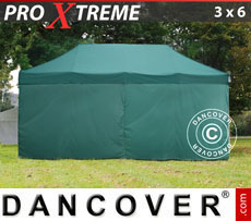 Pop up gazebo FleXtents Xtreme 3x6 m Green, incl. 6 sidewalls