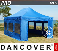 Pop up gazebo FleXtents PRO 4x6 m Blue, incl. 8 sidewalls
