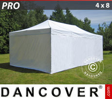 Pop up gazebo FleXtents PRO 4x8 m White, incl. 6 sidewalls