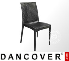 Stacking Chairs, Rattan Bistrot, Anthracite, 6 pcs.