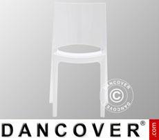Chair, Sunshine, Glossy white, 18 pcs.