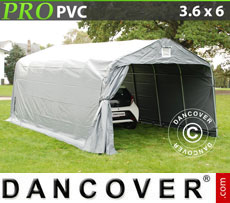 Portable Garage PRO 3.6x6x2.7 m PVC, grey